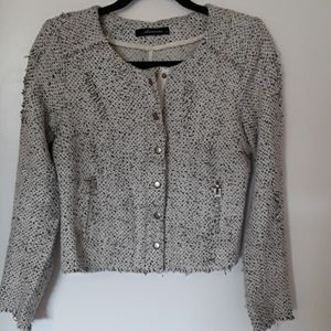 OLIVEACEOUS 'destroyed' tweed jacket